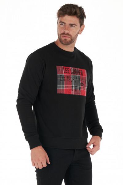Lee Cooper - Bluza barbat din bumbac cu imprimeu aplicat