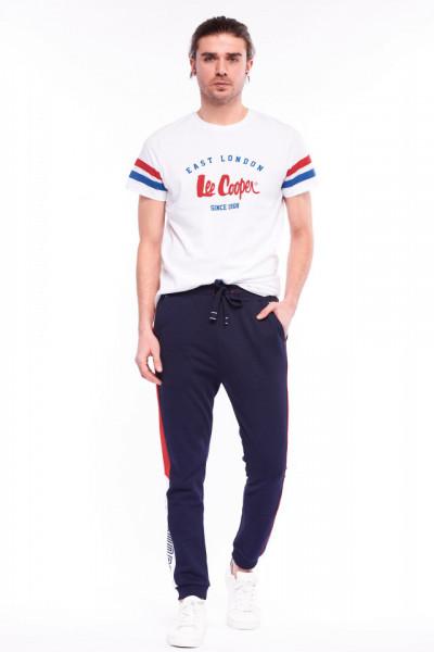 Lee Cooper - Pantaloni de trening cu logo in lateral