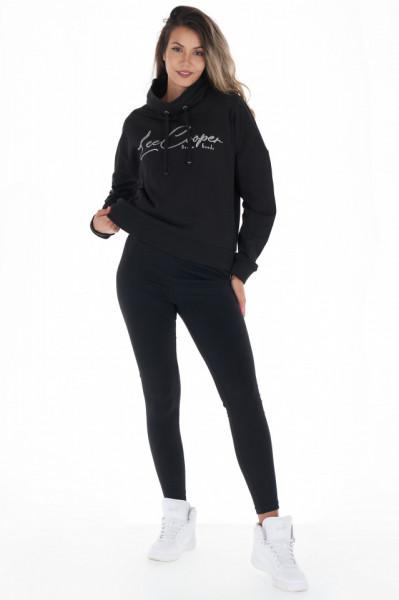 Lee Cooper - Pantaloni subtiri dama cu dunga in lateral si logo
