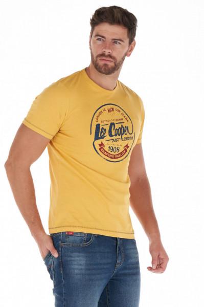 Lee Cooper - Tricou barbat cu maneca scurta si imprimeu cu logo