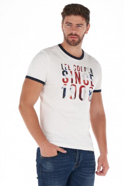 Lee Cooper - Tricou barbat cu maneca scurta si model logo