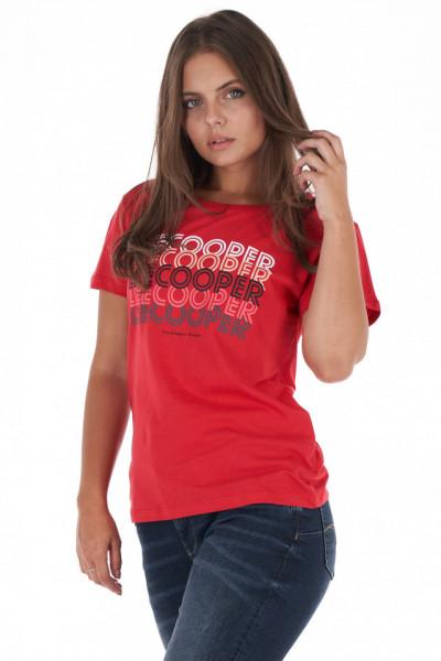 Lee Cooper - Tricou dama cu imprimeu tip logo pe fata
