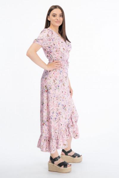 Martinez by Timeout - Rochie petrecuta cu snur in talie si imprimeu floral