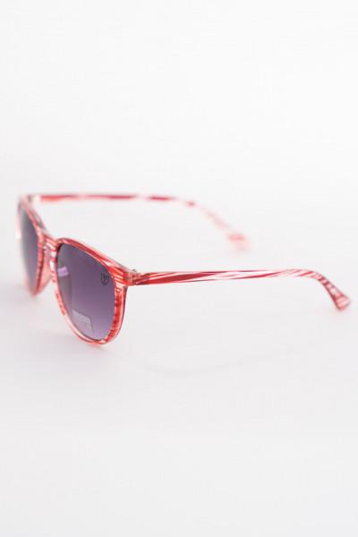 Timeout - Ochelari de soare cu rama rosie in dungi
