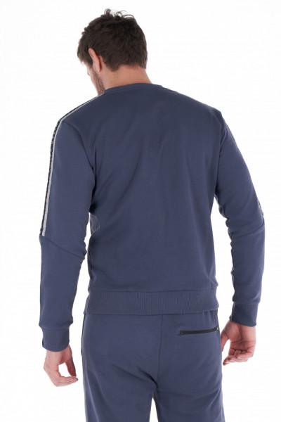 KVL - Bluza barbat cu maneca lunga si detalii tip logo