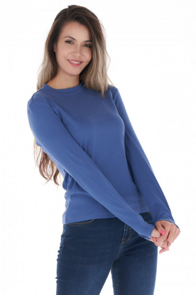 KVL - Bluza dama din bumbac si culoare uni