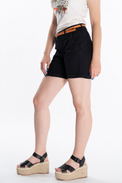 KVL - Pantaloni scurti cu buzunare oblice si curea
