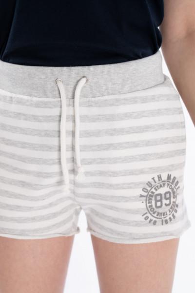 KVL - Pantaloni scurti dama cu imprimeu in dungi
