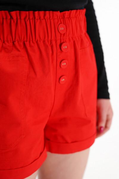 KVL - Pantaloni scurti din bumbac cu banda elastica in talie