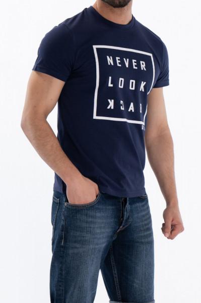 KVL - Tricou cu maneca scurta si imprimeu tip mesaj