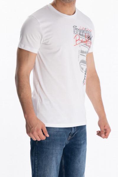 KVL - Tricou cu maneca scurta si model imprimat