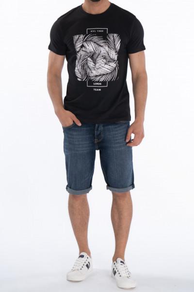 KVL - Tricou maneca scurta barbat cu imprimeu si logo pe piept