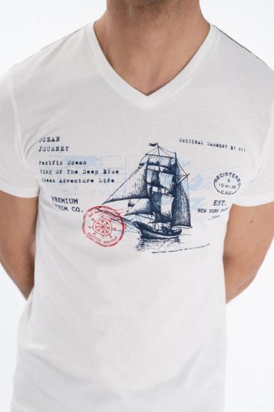 KVL - Tricou maneca scurta cu imprimeu artistic