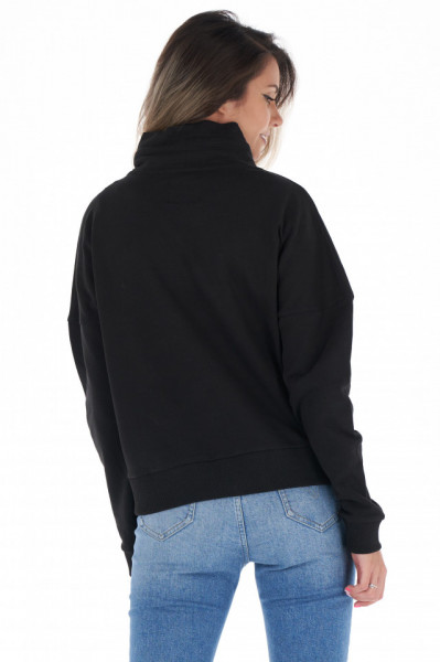 Lee Cooper - Bluza dama cu guler inalt si logo