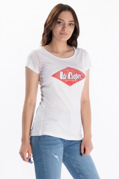 Lee Cooper - Tricou dama cu logo pe piept