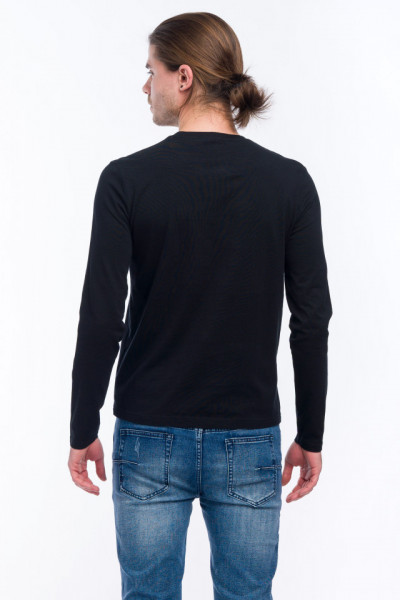 Timeout - Bluza subtire cu maneca lunga si logo imprimat