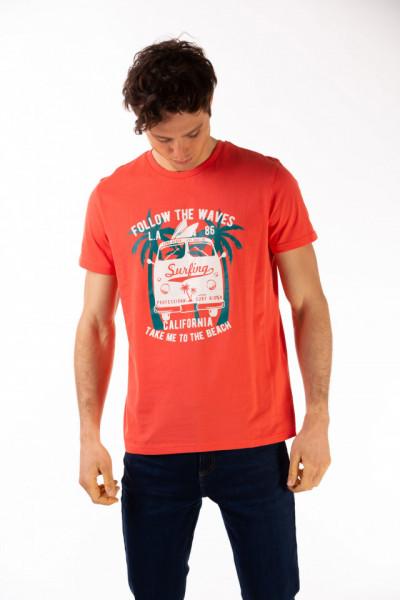 Timeout - Tricou barbat cu mesaj si imagine imprimata