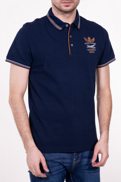 TRICOU MANECA SCURTA TIP POLO NAVY KVL