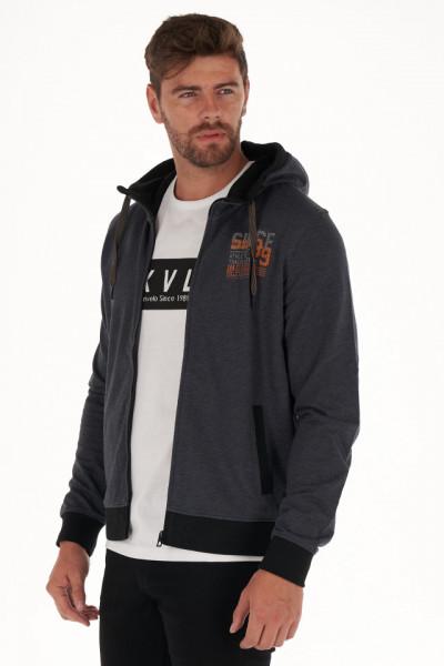KVL - Hanorac barbat cu fermoar si gluga