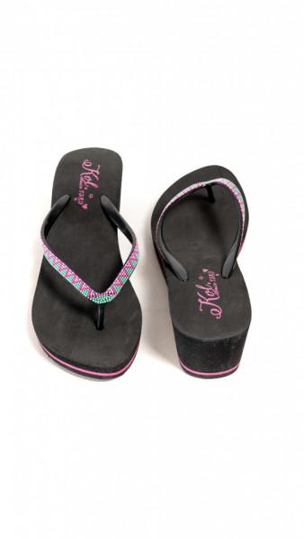 KVL - Papuci de plaja cu platforma