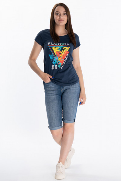 KVL - Tricou dama cu imprimeu tropical