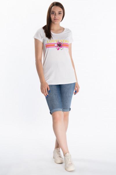 KVL - Tricou dama cu maneca scurta si model floral