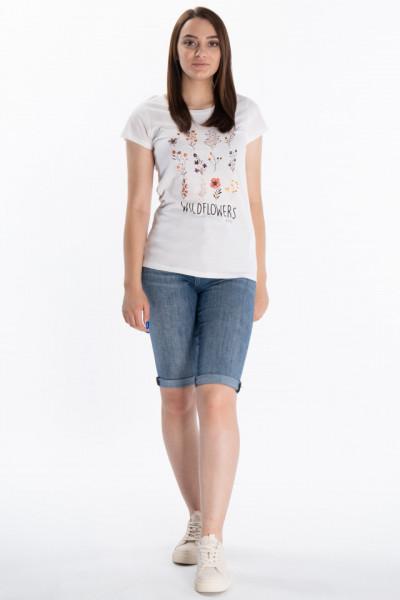 KVL - Tricou dama cu model flori