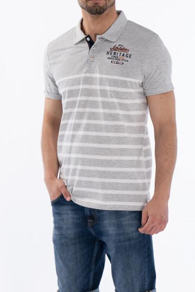KVL - Tricou subtire tip polo cu imprimeu in dungi