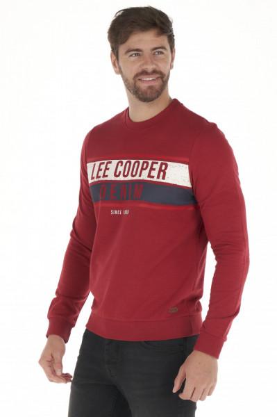 Lee Cooper - Bluza barbat cu maneca lunga si logo pe piept