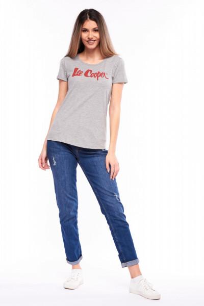 Lee Cooper - Tricou maneca scurta cu logo imprimat