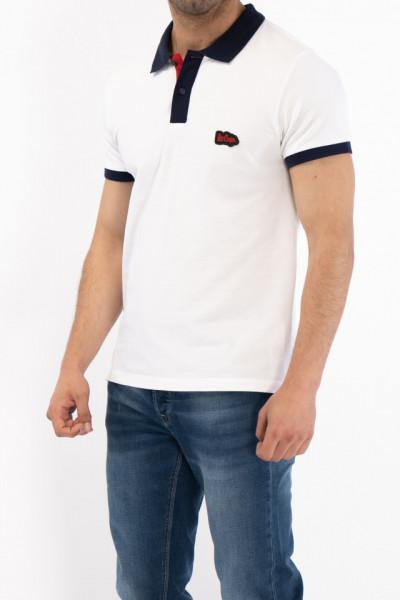 Lee Cooper - Tricou tip polo cu margini contrastante