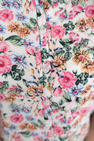 Timeout - Camasa maneca scurta cu imprimeu floral