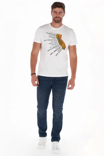 Timeout - Tricou barbat din bumbac cu imprimeu artistic