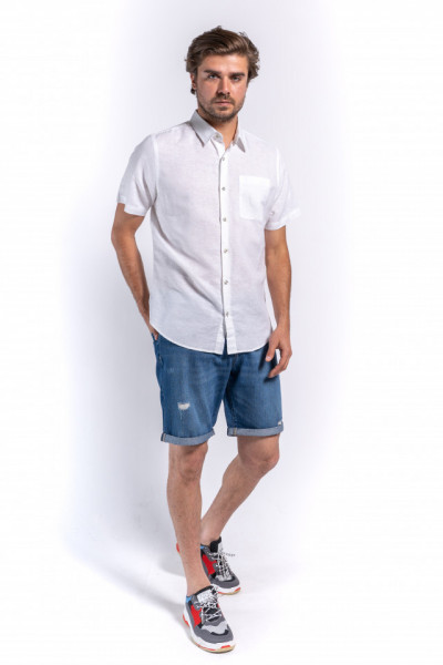 CAMASA MANECA SCURTA BARBAT WHITE KVL