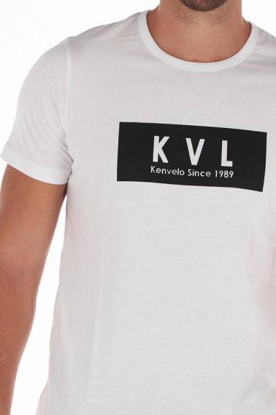 KVL - Tricou barbat cu maneca scurta si logo pe piept