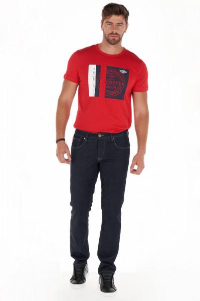 Lee Cooper - Blugi barbat straight fit de culoare uniforma