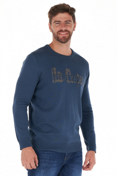 Lee Cooper - Pulover barbat cu maneca lunga si model logo
