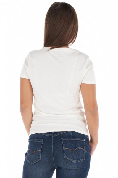 Lee Cooper - Tricou dama cu maneca scurta si imprimeu tip logo