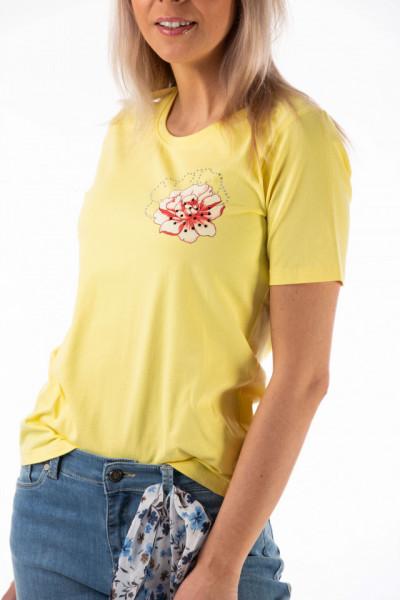 Montecristo - Tricou dama cu imprimeu si detalii din strasuri