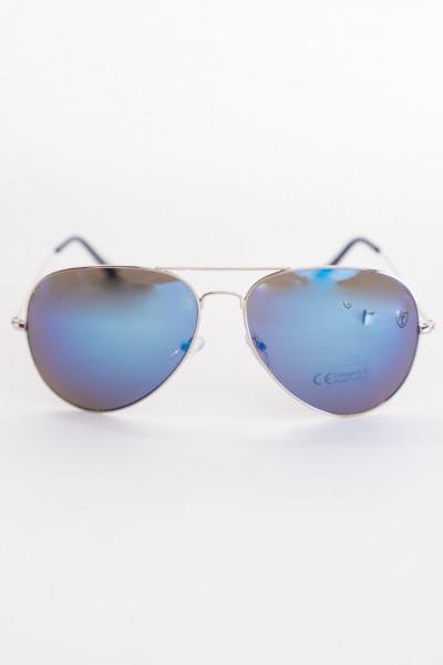 Timeout - Ochelari de soare cu rama subtire si reflexie albastra