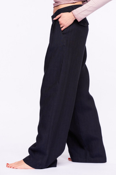Timeout - Pantaloni lungi din in cu croiala lejera