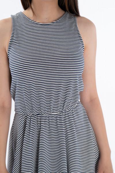 Timeout - Rochie elastica cu imprimeu in dungi