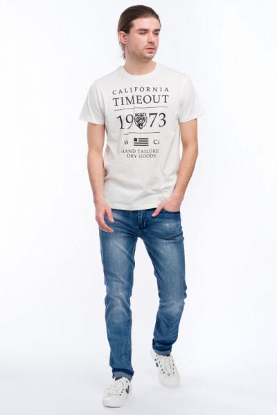 Timeout - Tricou din bumbac cu maneca scurta si imprimeu