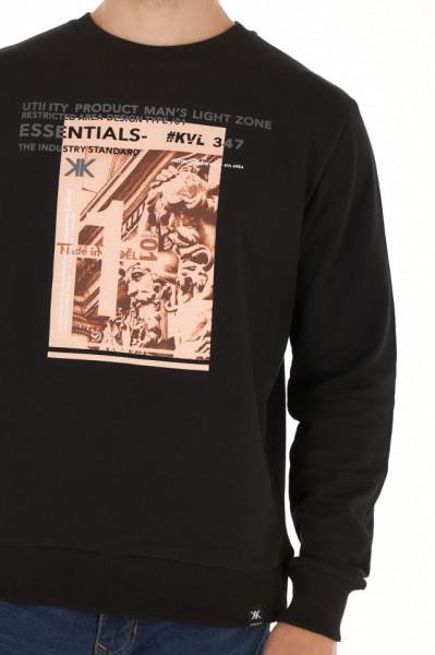 KVL - Bluza barbat cu maneca lunga si model imprimat