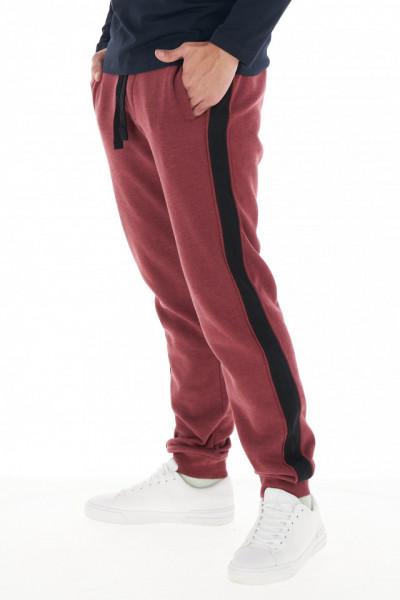 KVL - Pantaloni de trening cu dunga contrastanta in lateral