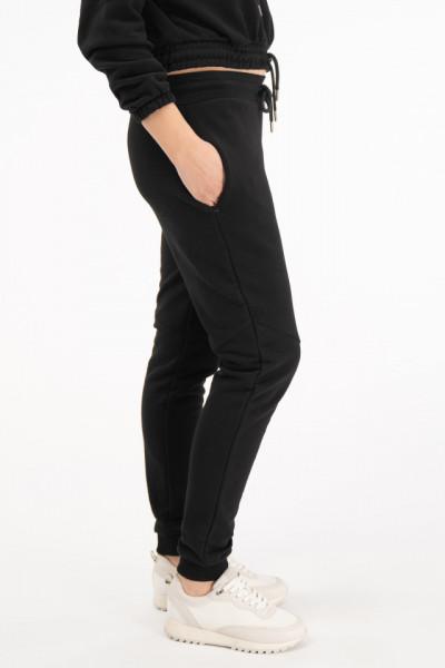 KVL - Pantaloni de trening cu talie inalta si logo