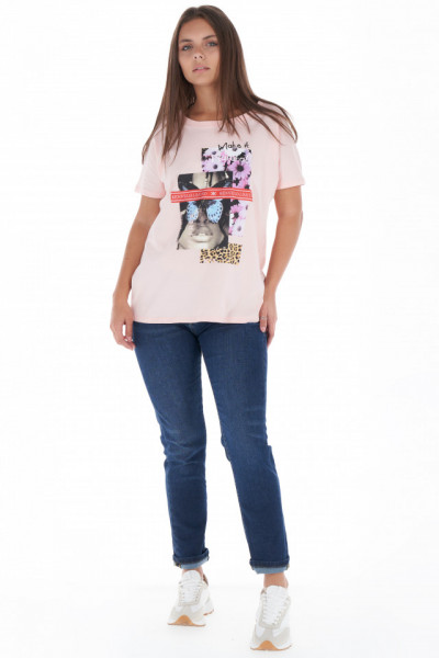 KVL - Tricou dama lejer din bumbac cu model