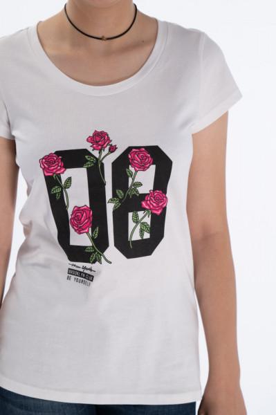 KVL - Tricou dama maneca scurta cu imprimeu floral