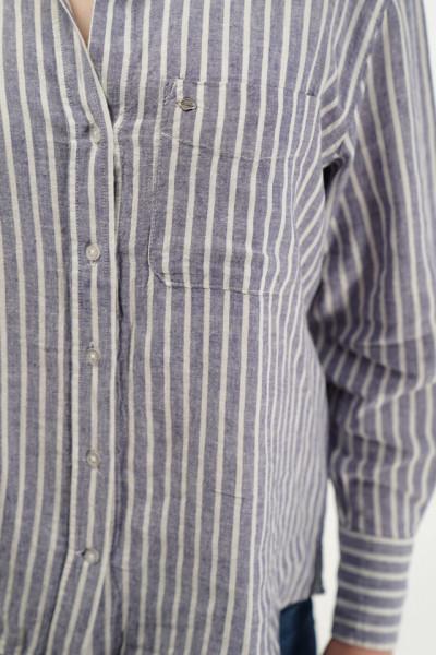 Lee Cooper - Camasa oversize cu imprimeu in dungi