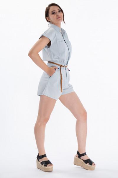 Lee Cooper - Salopeta dama cu pantaloni scurti si buznare